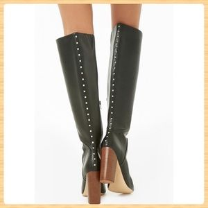New Forever21 Studded Faux Leather Boots